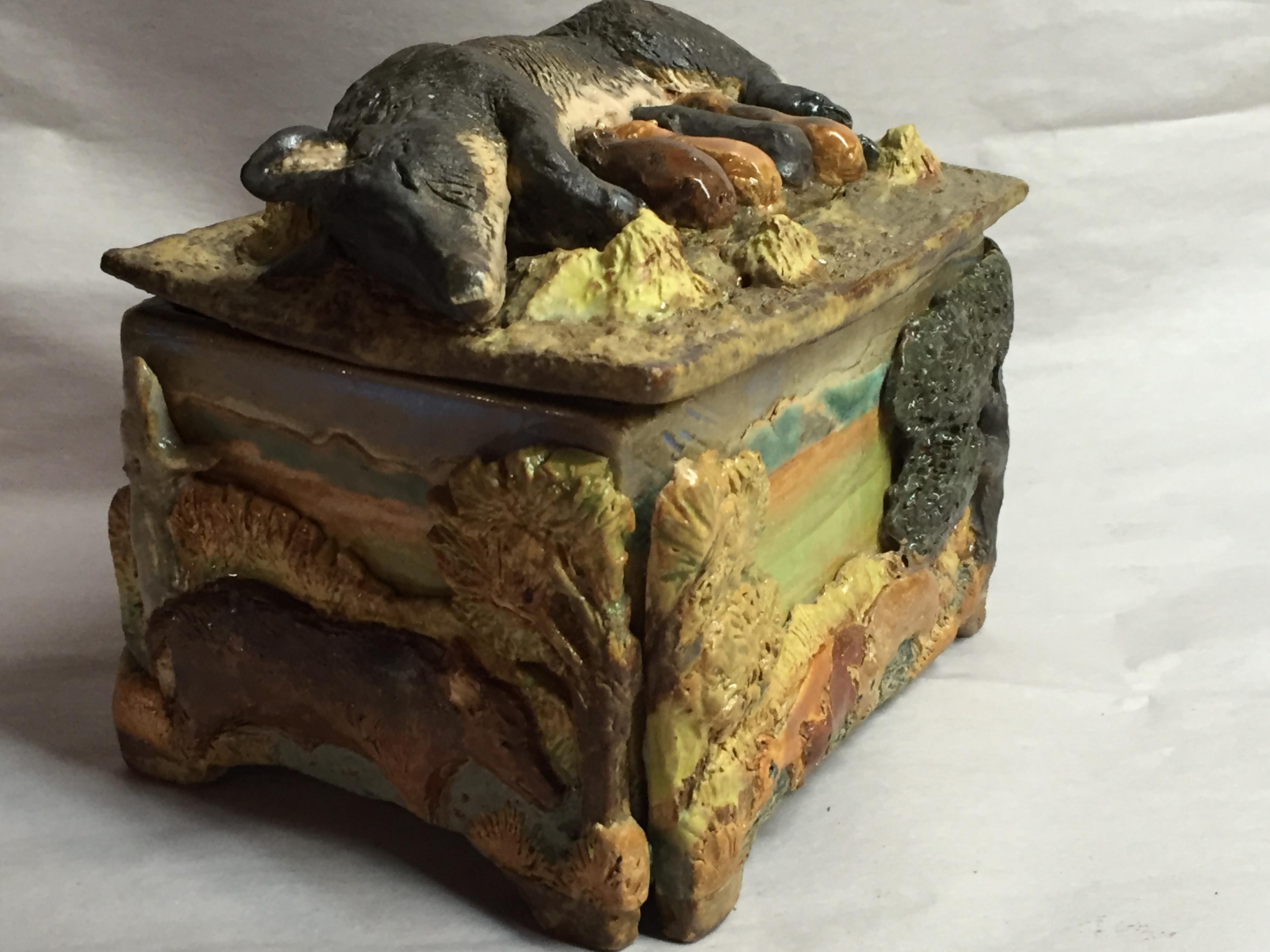 Lidded Hog Box (detail)