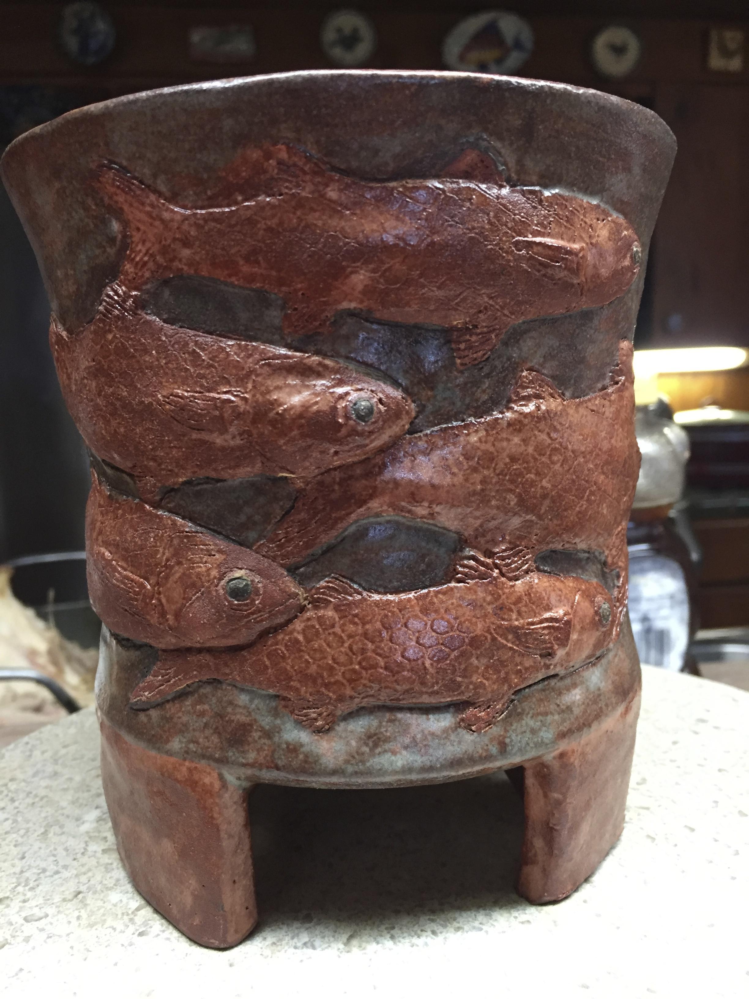 Schooling Mullet Vase