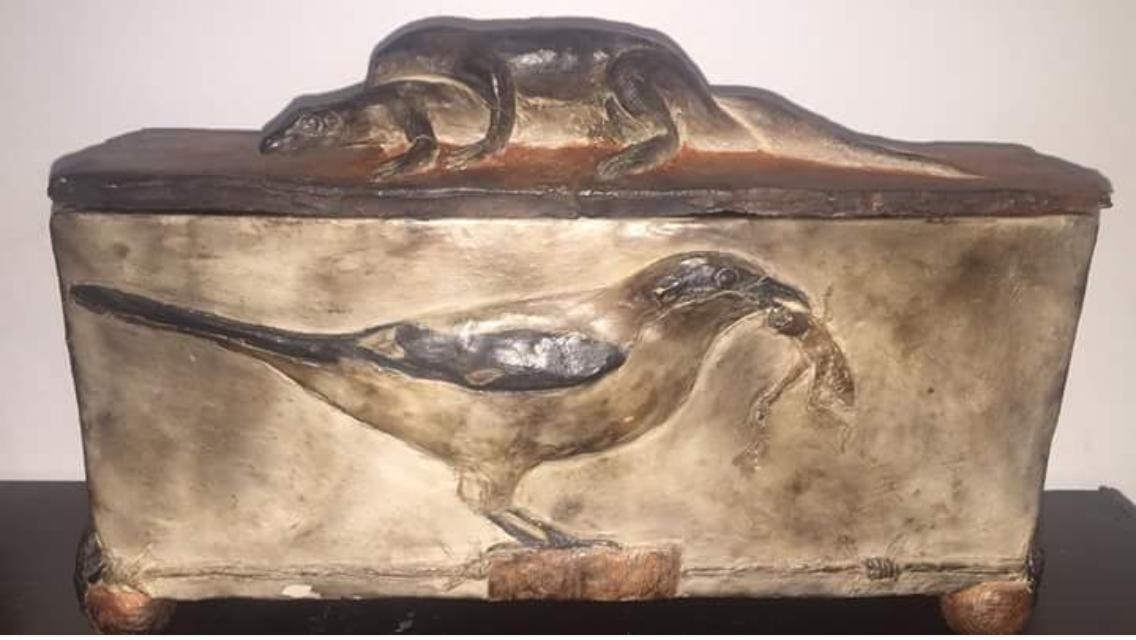 Lidded Shrike and Anole Box
