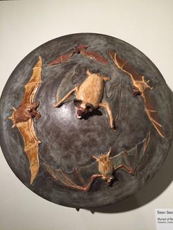 Lidded Bat Pot (detail)