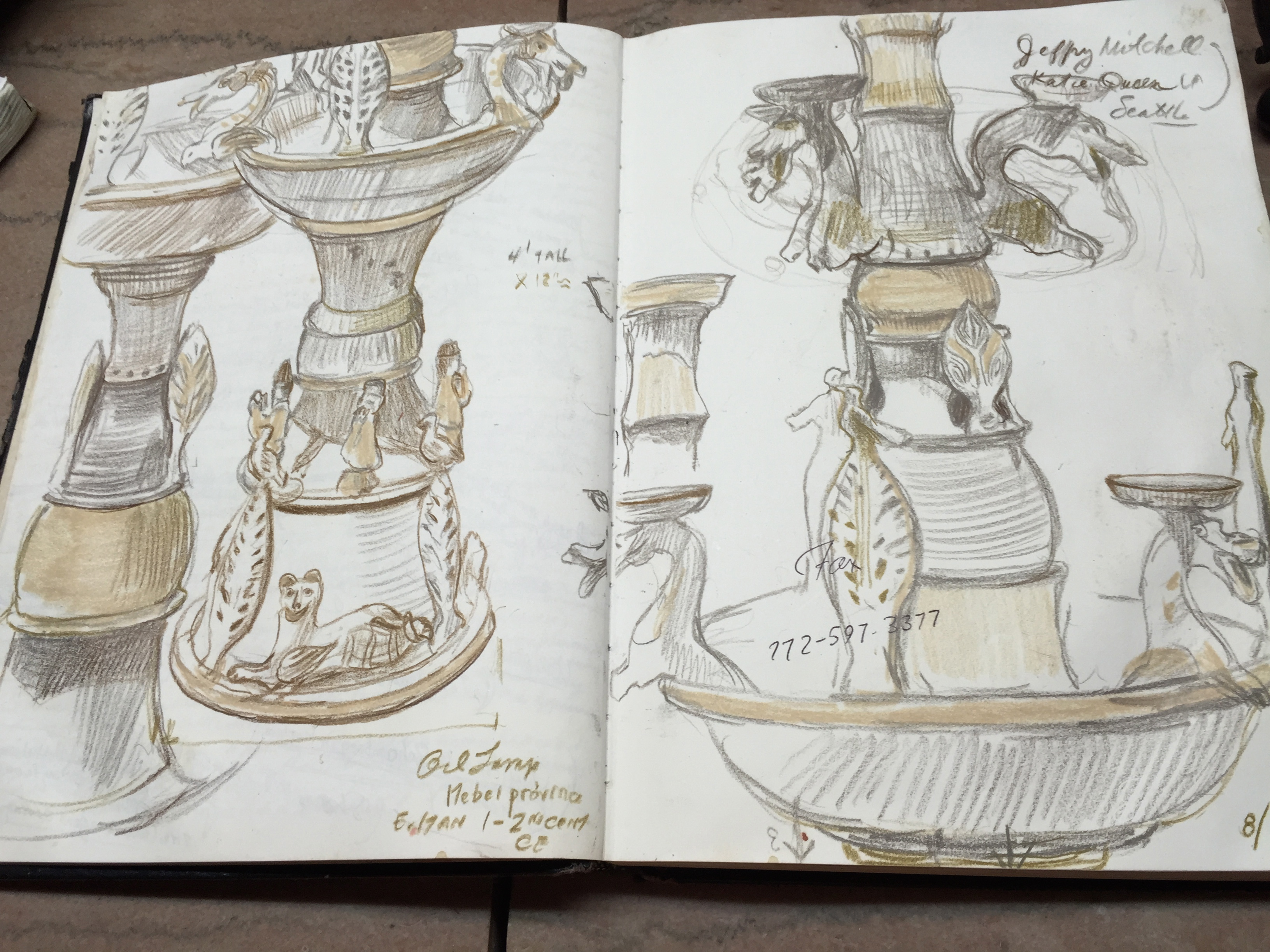 Studies of Han Dynasty Oil Lamp