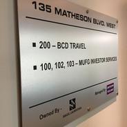 Office Brushed Aluminum Sign