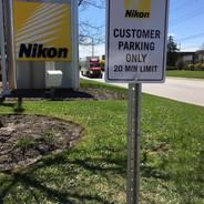 Aluminum Customer Parking Sign