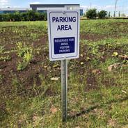 Parking Area Aluminum Sign