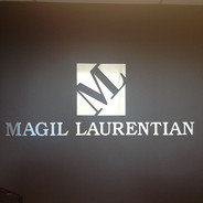 Individual Letter Metal Sign For Office Wall