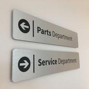 Indoor Directional Aluminum Sign