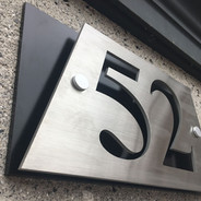 Aluminum And Acrylic Number Sign