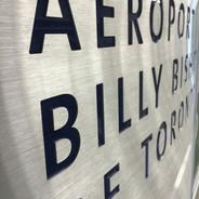 Brushed Aluminum Sign