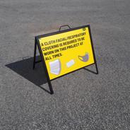 Coroplast Sign- A frame