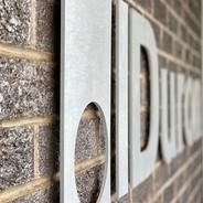 Aluminum Logo Wall Sign