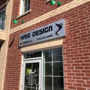 Storefront Metal Board Sign