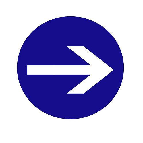 Arrow Sign - White & Blue
