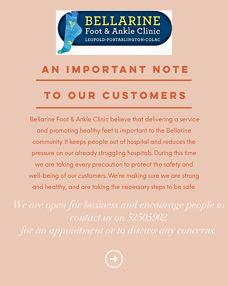 Bellarine Foot & Ankle Clinic Open.PNG