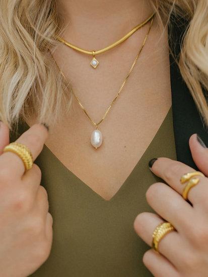 Mae Pearl Pendant Necklace