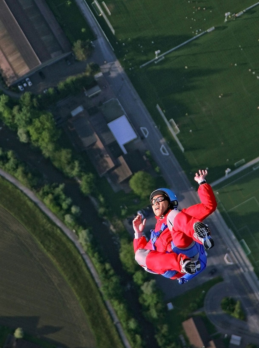 person in free fall