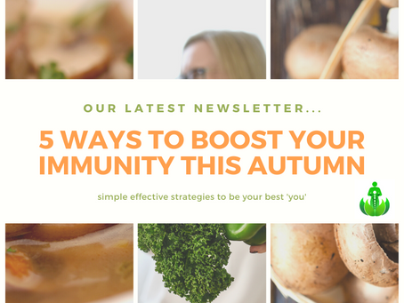 5 ways to boost your immunity this Autumn