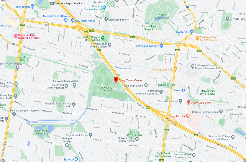 Casey Tennis Centre Map.png