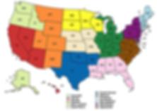 ARC US region map