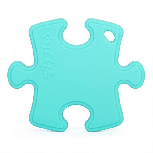 """Jouet de Dentition en Silicone """"Puzzle"""" - Turquoise"""