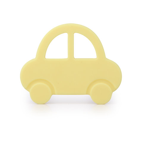 """Baby Teether """"Baby's First Car"""" - Yellow"""