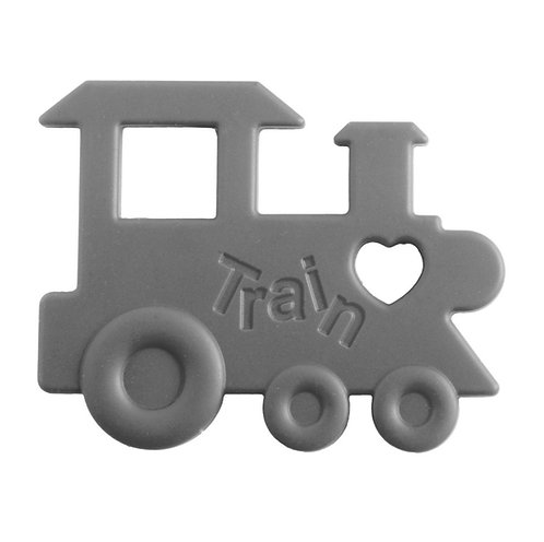 "Baby Teether ""Chew Chew The Train"" - Grey"