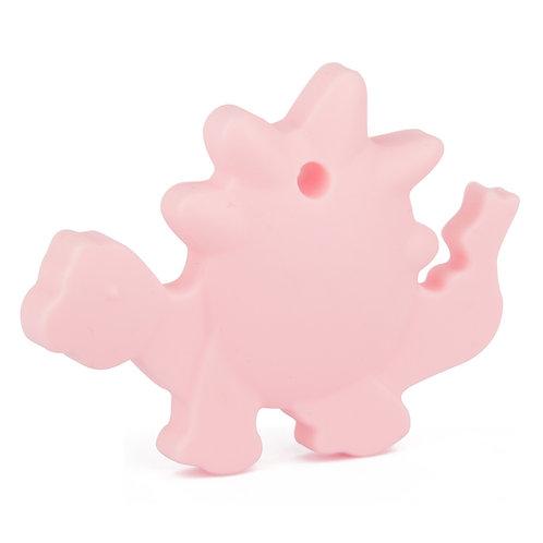 Sensory Silicone Baby Teether Dino - Pink