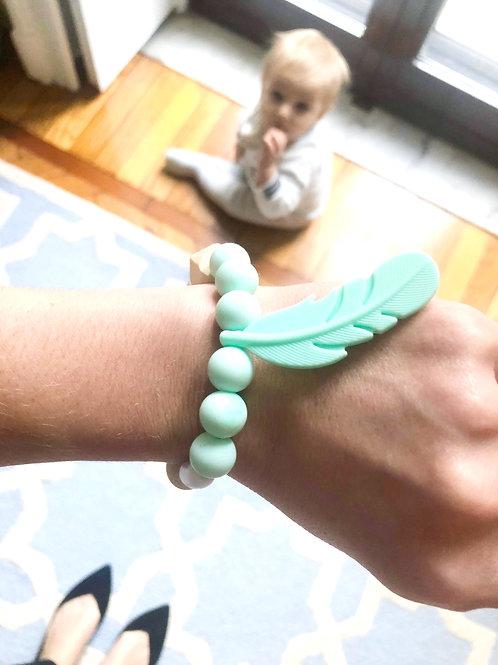Silikon Mama Armband LOU - Mint