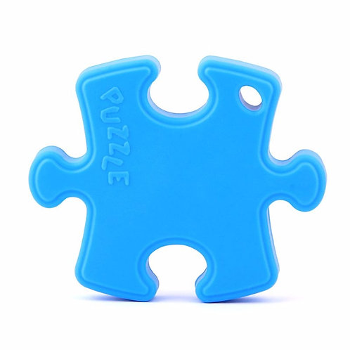 Silicone Baby Teether Puzzle - Sky Blue