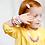 """Thumbnail: Bracelet Sécurisé pour Petite Fille """"LITTLE DIVA"""" - Milk"""