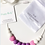 """Thumbnail: Chewable Silicone Children Necklace """"Little Diva"""" Yellow"""