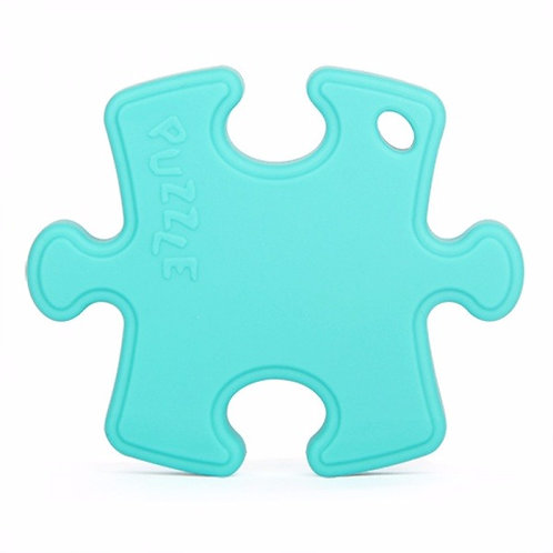 Sensory Silicone Baby Teething Toy Puzzle Clip - Turquoise