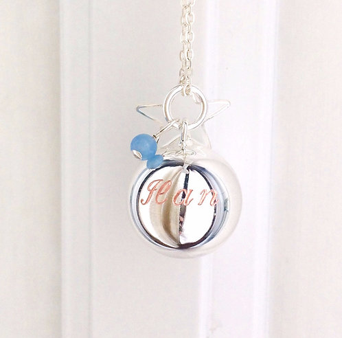 Personalised Pregnancy Baby Chime Necklace - Engraving
