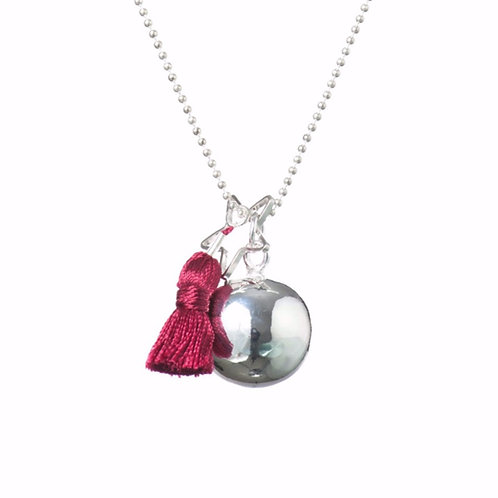 Pregnancy Baby Chime Necklace GYPSY MAMA - Bordeaux
