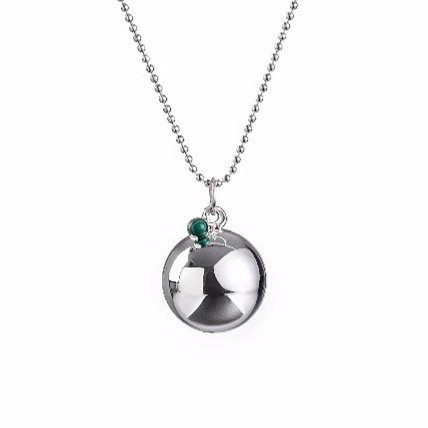 Angel Caller Pregnancy Necklace BABY PEARL - Malachite