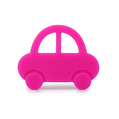 "Baby Teether ""Baby's First Car"" - Pink"