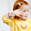 "Thumbnail: Children Necklace ""Little Diva"" Violet"