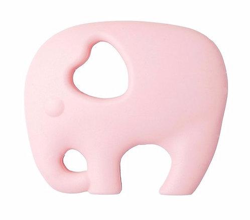 Gioco Massaggiagengive in Silicone - Elefante Rosa