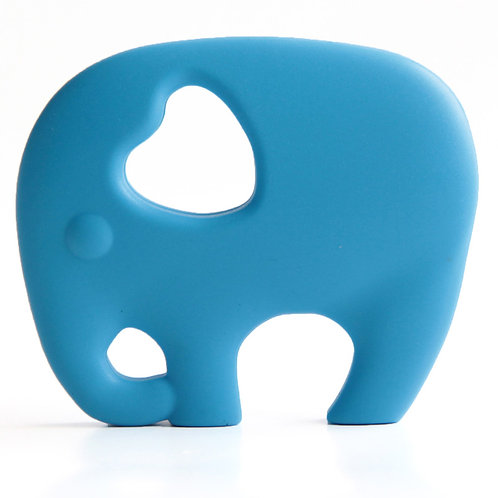 """Non Toxic Baby Teether """"Wise Elephant"""" - Sky Blue"""