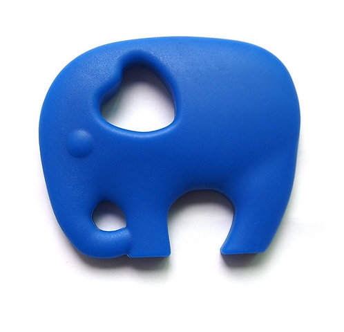 """Silicone """"Wise Elephant"""" Teether - Navy Blue"""