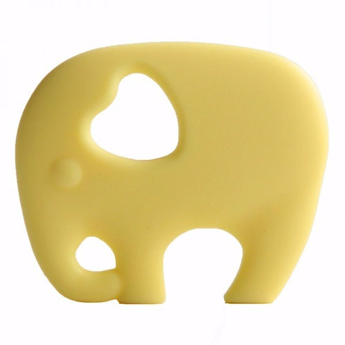 "Non Toxic Baby Teether ""Wise Elephant"" - Yellow"
