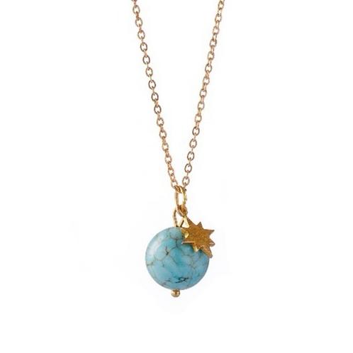 WILD MOON Halskette - Natürliches Türkis