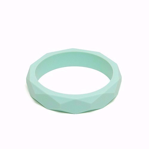 Braccialetto Bangle in Silicone - Mint