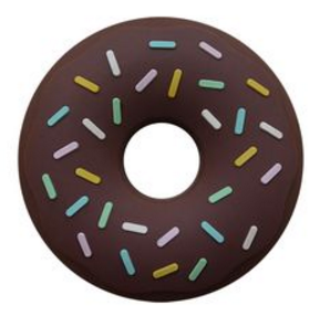 Non Toxic Teether DONUT - Chocolate