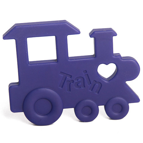 "Baby Teether ""Chew Chew The Train""- Navy Blue"