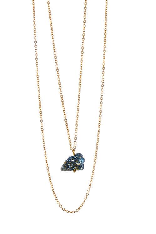 "Collana di Cristalloterapia ☾ ""My Little Crystal"" - Druzy di Lapis Lazuli"