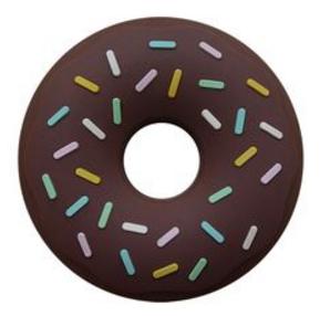 """Anneau de Dentition Non-Toxique """"Donut"""" - Chocolat"""