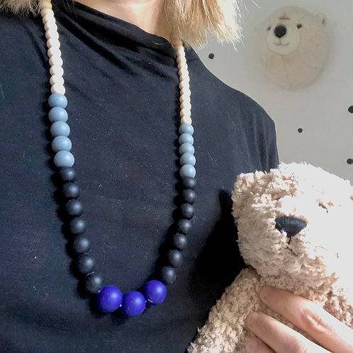 Teething Necklace Manhattan - Blue