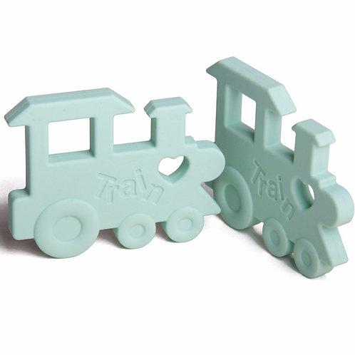 """Baby Beißspielzeug """"Der Zug ChooChoo"""" - Mint"""