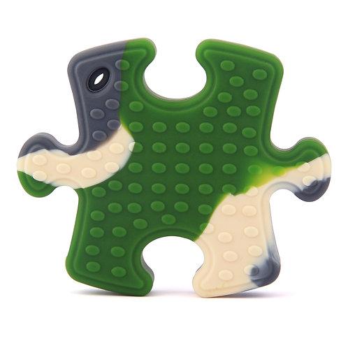"""Jouet de Dentition en Silicone """"Puzzle"""" - Camouflage"""