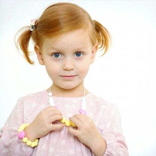 Bracelet Sécurisé pour Petite Fille LITTLE DIVA  - Jaune